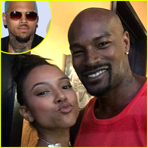 Is Chris Brown Threatening Tyson Beckford for Hanging Out with Karrueche Tran!?
