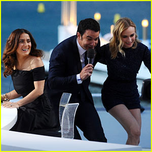 Diane Kruger & Salma Hayek Get Silly for Cannes Talk Show