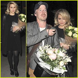 Dianna Agron Gets Flowers on 'McQueen' Opening Night