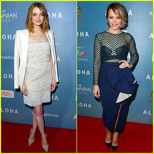 Emma Stone & Rachel McAdams Pair Up for 'Aloha' Premiere