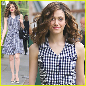 Emmy Rossum Carries Cute Car Purse In Beverly Hills