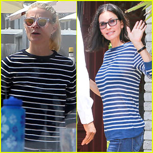 Gwyneth Paltrow & Courteney Cox Show Off Their Memorial Day Stripes