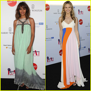 Halle Berry & Halston Sage Bring Color to Kaleidoscope Ball