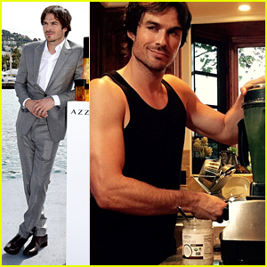 Ian Somerhalder Shows Off His Muscles in the Kitchen!