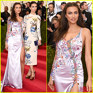 Irina Shayk & Emily Ratajkowski Make Embroidered Statement at Met Gala 2015