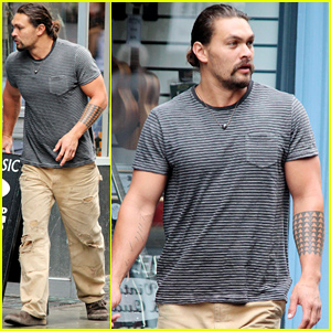 Jason Momoa Shows Off His Aquaman Physique in London