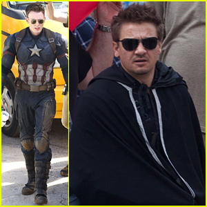 Jeremy Renner Joins Chris Evans on 'Captain America: Civil War' Set!