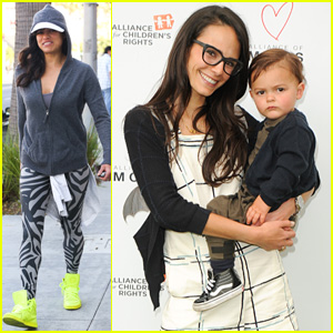 Jordana Brewster Spends Mother's Day Weekend With Son