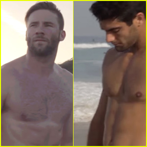Julian Edelman Does a Shirtless Workout with Jimmy Garoppolo