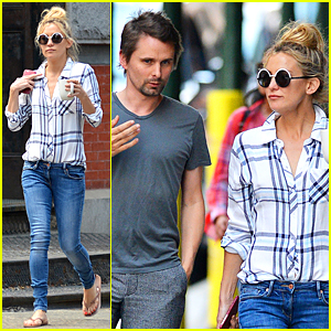 Kate Hudson & Matthew Bellamy Are Friendly Exes in New York City