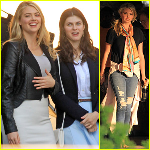 Kate Upton Continues Filming 'The Layover' in Canada