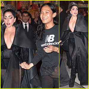 Lady Gaga & Alexander Wang Hold Hands at Met Gala After Party