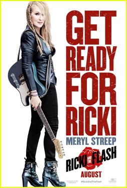 Meryl Streep Channels Female Rockstar in 'Ricki & the Flash' Poster & Trailer - Watch Now!