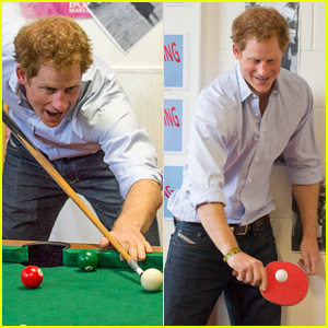 Prince Harry Plays Pool & Ping Pong in New Zealand
