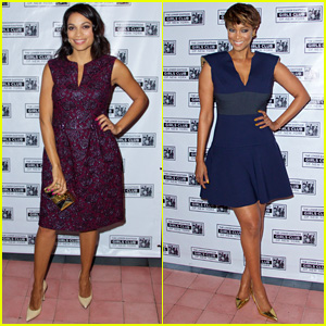 Rosario Dawson is Pretty in Purple at LES Girls Club Benefit