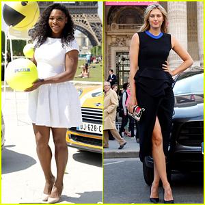 Serena Williams & Maria Sharapova Take Tennis Break Before the French Open