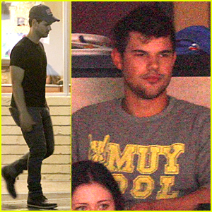 Taylor Lautner Satisfies Late Night Cravings at Norms