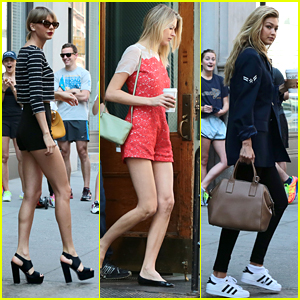 Taylor Swift Brings Martha Hunt & Gigi Hadid To Detroit With Her!