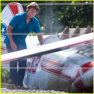 Tom Cruise Films Plane Crash Scene For 'Mena' in Georgia