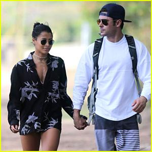 Zac Efron & Girlfriend Sami Miro Embrace Each Other in Hawaii