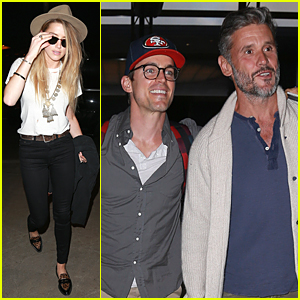 Amber Heard & Matt Bomer Jet Out of Los Angeles Following 'Magic Mike XXL' Premiere