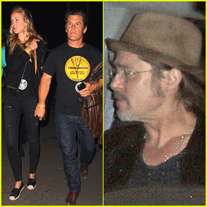 Brad Pitt Helps Celebrate U2's Concerts at the