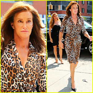 Caitlyn Jenner Shows Off Her Leopard Print Dress in NYC