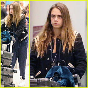 Cara Delevingne Jets to Toronto to Continue 'Suicide Squad'
