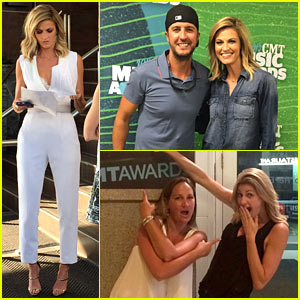 Erin Andrews Shares CMT Music Awards Backstage Snapshots with Just Jared! (Exclusive)