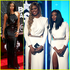 Laverne Cox & Gabrielle Union Wear Same Dress at BET Awards 2015!
