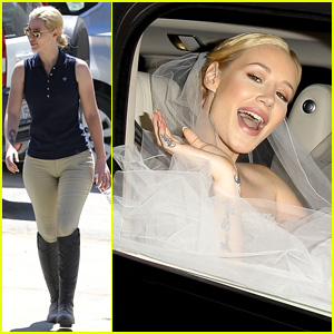 Iggy Azalea Dons Wedding Dress for Filming With James Corden