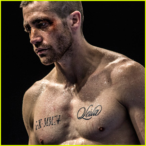 Jake Gyllenhaal Gets Shirtless & Sweaty for 'Southpaw'