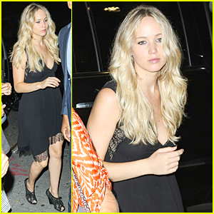 Jennifer Lawrence Wears Little Black Dress to Waverly Inn Dinner