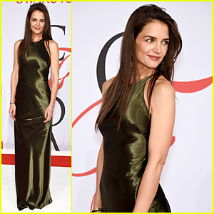 Katie Holmes Goes Gorgeous Green at CFDA Fashion Awards 2015