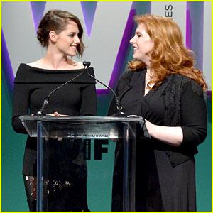 Kristen Stewart Reunites with 'Twilight' Author Stephenie Meyer at Women in Film Event!