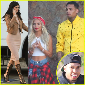 Kylie Jenner Visits Pal Pia Mia on 'Do It Again' Video Set With Tyga & Chris Brown
