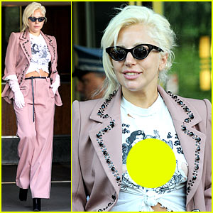 Lady Gaga Wears the Raciest Snow White Shirt Ever!
