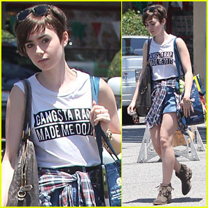 Lily Collins Crops Her Pixie Cut Even Shorter