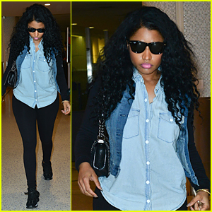 Nicki Minaj Flies to Los Angeles Ahead of BET Experience 2015