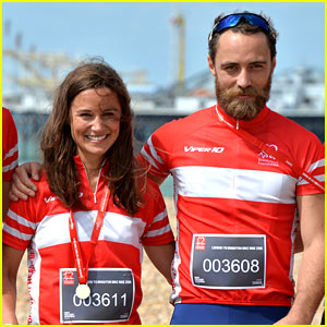 Pippa Middleton Does a Charity Bike Ride with Brother James!