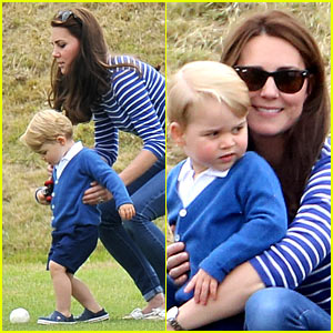 Prince George Kicks the Polo Ball with Mom Kate Middleton!