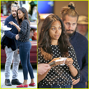 Zoe Saldana & Marco Perego Enjoy Movie Date on His First Father's Day