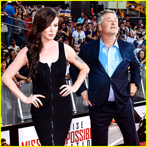 Alec Baldwin Imitates Daughter Ireland's Model Poses at 'Mission: Impossibl