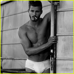 Alexander Ludwig Strips Down to His Underwear for