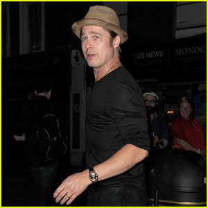Brad Pitt & Bradley Cooper Grab Dinner Together in London