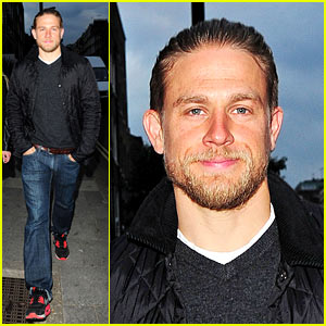 Charlie Hunnam Hangs Out at Hookah Bar with Friends