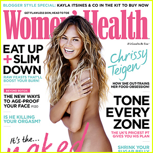 Chrissy Teigen Goes Completely Naked for 'Women's Healt