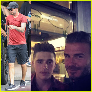 David Beckham Works Out After Late-Night Crepe With Brooklyn