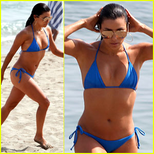 Eva Longoria Looks Bella in a Bikini in Marbella, Spain