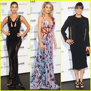 Irina Shayk & Rosie Huntington-Whiteley Serve Glam for amfAR!
